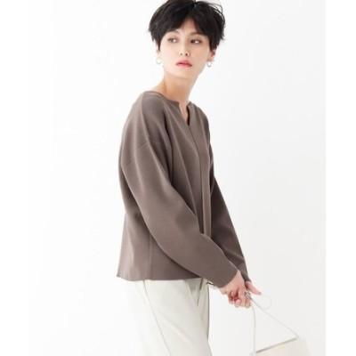 SUPIMA COTTON ドロップキーネックニット【WEB限定カラー・サイズ】