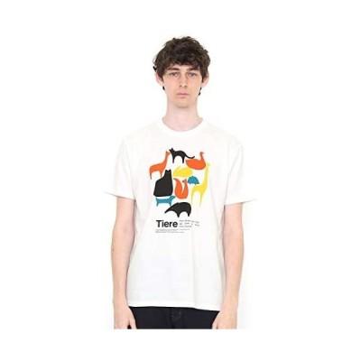 (グラニフ) graniph Tシャツ シンプル アニマルズ (ホワイト) メンズ レディース (g100) (g107) (ホワイト M)