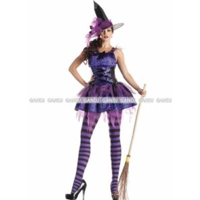 紫 魔女 コスプレ ハロウィン衣装 コスプレ衣装 童話 魔女 7807