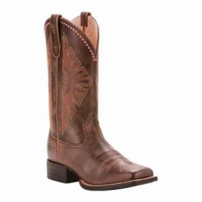 アリアト ブーツ Round Up Rio Cowgirl Boot Naturally Distressed Brown Full Grain Leather