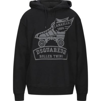 ディースクエアード DSQUARED2 メンズ スウェット・トレーナー トップス Hooded Sweatshirt Black