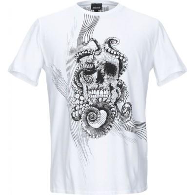 ジャスト カヴァリ JUST CAVALLI メンズ Tシャツ トップス t-shirt White
