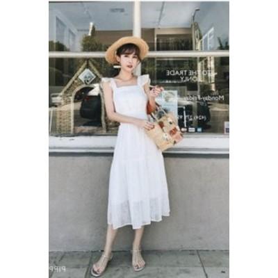 大人 かわいい 夏のワンピース 春夏 Aライン 透ける ロング丈 お嬢様 お出かけ 半袖 袖あり 白