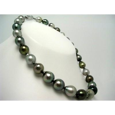 真珠 ネックレス パール ナチュラルカラー 黒蝶真珠 真珠ネックレス パールネックレス 11.2-14.1mm 57264