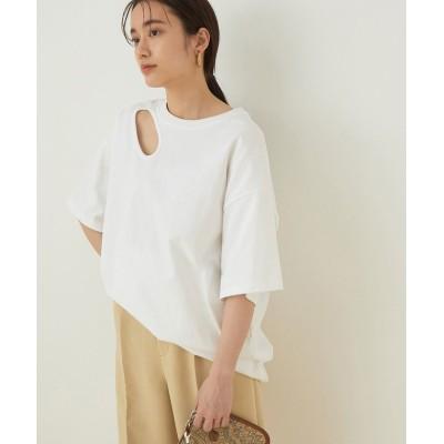 【アダムエロペ】 Simple point t-shirt レディース ホワイト F ADAM ET ROPE'