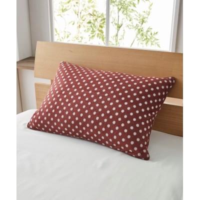 シアバター配合のタオル地 L字ファスナー枕カバー(ドット柄) 枕カバー・ピローパッド, Pillow covers(ニッセン、nissen)