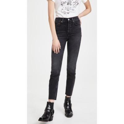 リダン RE/DONE レディース ジーンズ・デニム ボトムス・パンツ 90s High Rise Ankle Crop Jeans Fadedcoal