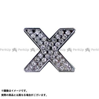 【無料雑誌付き】マッドマックス 汎用 ダイヤ文字エンブレム カラー:シルバー 仕様:文字:X MADMAX