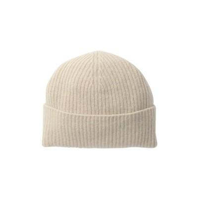 ポートラノ レディース 帽子 アクセサリー Ribbed Cashmere Hat YOGI IVORY