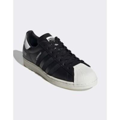 アディダス メンズ スニーカー シューズ adidas Originals Superstar sneakers signature series in black Black