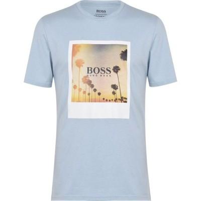 ヒューゴ ボス Boss メンズ Tシャツ トップス Summer 4 T Shirt Pastel Blue