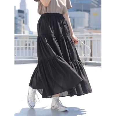 【オンワード】 AMERICAN HOLIC>スカート ティアードソフトギャザースカート Flower F レディース 【送料無料】