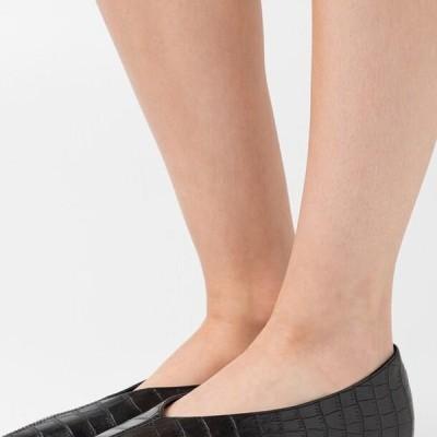 エヌエーケイディー レディース 靴 シューズ POINTY VCUT - Ballet pumps - black