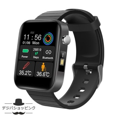 スマートウォッチ 体温計測定 心拍数計測 血圧計測 歩数 体温計測 カロリー 睡眠モニター メッセージ通知 着信通知 大画面 iphone&Android対応