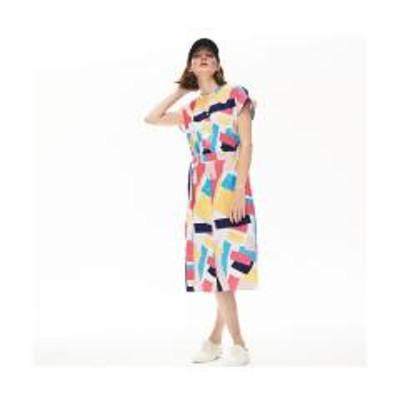 ラコステモダングラフィックデザインシャツドレス【お取り寄せ商品】