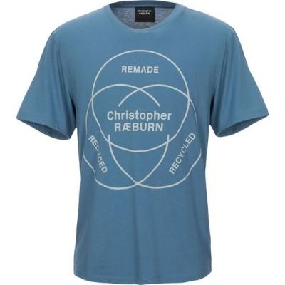クリストファー レイバーン CHRISTOPHER RAEBURN メンズ Tシャツ トップス t-shirt Slate blue