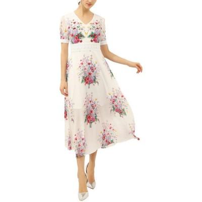 バーリコ ワンピース トップス レディース BURRYCO Midi Dress white and multicolor floral print