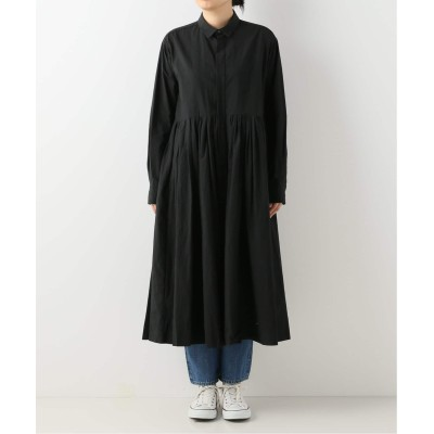 レディース ジャーナルスタンダード ラックス 【TOUJOURS / トゥジュー】 RONDOM PLEATED SHIRT DRESS ネイビー 2