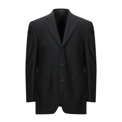 TIZIANO REALI テーラードジャケット ブラック 52 バージンウール 100% テーラードジャケット