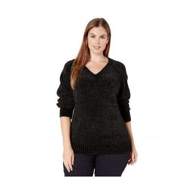 Karen Kane Plus カレンケーン レディース 女性用 ファッション セーター Plus Size V-Neck Chenille Sweater - Black
