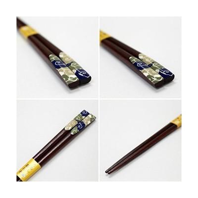 箸 天平 渦雲 木製 (天然木) 漆 塗装 23cm