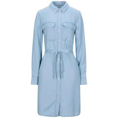 VILA ミニワンピース&ドレス ブルー 34 テンセル 100% ミニワンピース&ドレス