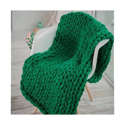 Chunky Knit Blanket Hand Made Bulky Blanket Merino Wool Throw Boho Bedroom Sofa Home Decor Giant Yarn Large Cable Knitted Soft Cozy Blanket【並行