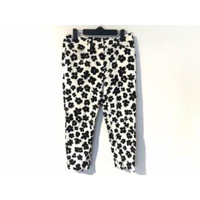 エムズグレイシー M'S GRACY パンツ サイズ40 M レディース 美品 白×黒【還元祭対象】【中古】20200709