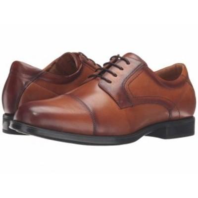 Florsheim フローシャイム メンズ 男性用 シューズ 靴 オックスフォード 紳士靴 通勤靴 Midtown Cap Toe Oxford Cognac【送料無料】