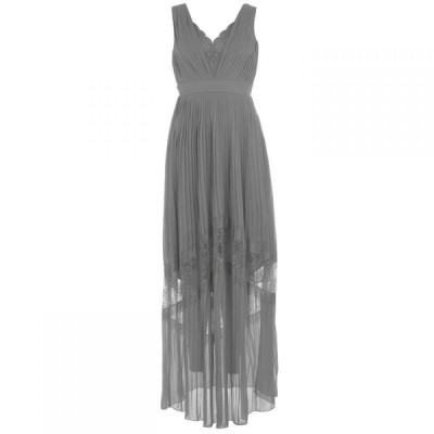 リトル ミストレス Little Mistress レディース ワンピース Vネック ワンピース・ドレス V Neck Pleated Dress WATERLILY