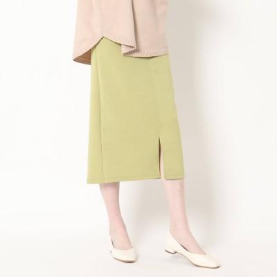 ザ ショップ ティーケー  ウィメンズ THE SHOP TK(Women) ソフトダンボール タイトナロースカート (ライトグリーン)