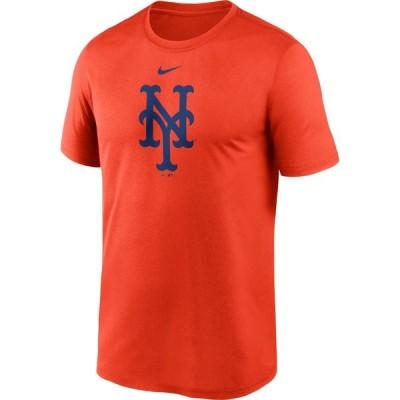 ナイキ Nike メンズ Tシャツ ドライフィット トップス New York Mets Orange Large Logo Legend Dri-FIT T-Shirt