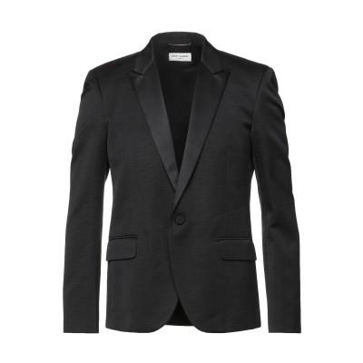 SAINT LAURENT テーラードジャケット ブラック 50 シルク 100% / ポリエステル テーラードジャケット