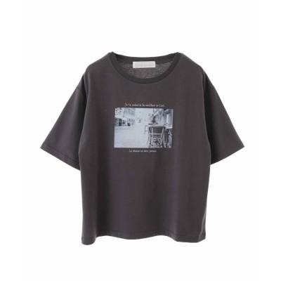 トランテアン ソン ドゥ モード 31 Sons de mode フォトTシャツ (チャコールグレー)