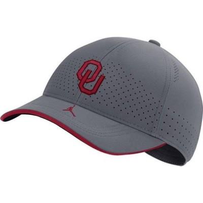 ジョーダン メンズ 帽子 アクセサリー Jordan Men's Oklahoma Sooners Grey AeroBill Classic99 Football Sideline Hat