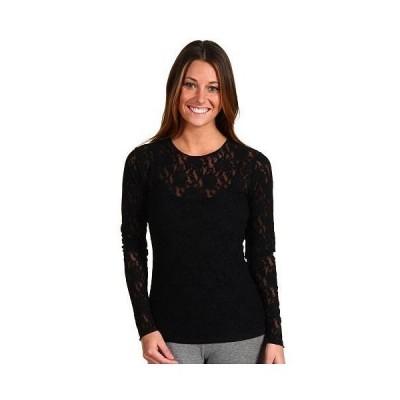Hanky Panky ハンキーパンキー レディース 女性用 ファッション ブラウス Signature Lace Unlined Long Sleeve Top - Black