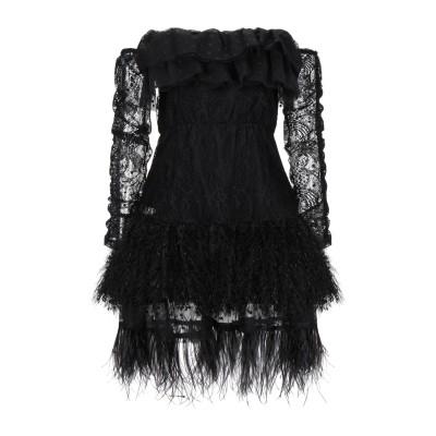 SOALLURE ミニワンピース&ドレス ブラック 42 ナイロン 100% / レーヨン / ポリエステル ミニワンピース&ドレス