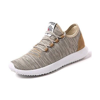 [Make 2 Be] メンズ アッパーニット スニーカー フィット 軽量 靴 シューズ 通気性 ランニング ジョギング ウォー?