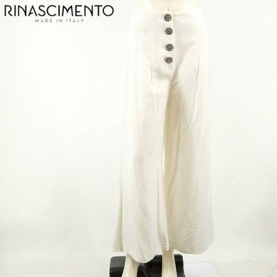 リナシメント(RINASCIMENTO)レディース ロングパンツ ホワイト系  ワイドタイプ イタリア製 (サイズ/S)*rc4853