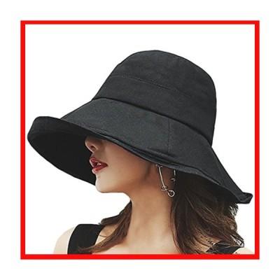 T WILKER UVカット 帽子 レディース ワイヤーを加える 取り外すあご紐 サイズ調節可 つば広 おしゃれ 可愛い ハッ