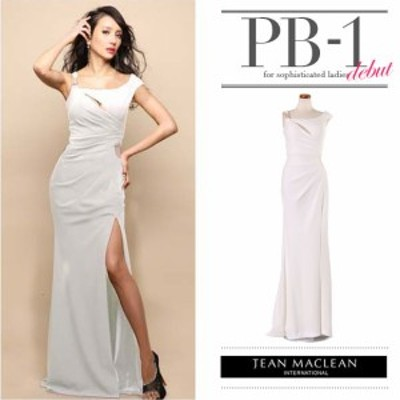 JEANMACLEAN ドレス ジャンマクレーン キャバドレス ナイトドレス ロングドレス jean maclean ホワイト 白 9号 M 85164 クラブ スナック