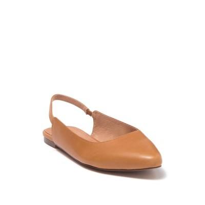 メイドウェル レディース サンダル シューズ Margo Leather Slingback Flat DESERT CAMEL