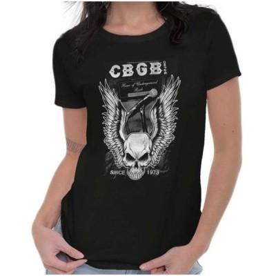 レディース 衣類 トップス CBGB Tees Shirts Tshirts For Womens Vintage Home Of Underground Rock Club Tシャツ