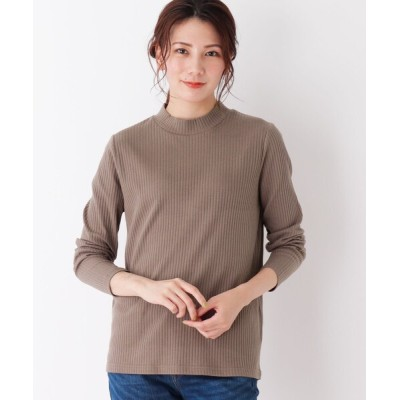 SHOO・LA・RUE / 【M-LL】テレコハイネックTシャツ WOMEN トップス > Tシャツ/カットソー