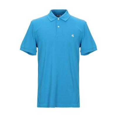 ブルックス ブラザーズ BROOKS BROTHERS ポロシャツ アジュールブルー S スーピマ® 100% ポロシャツ