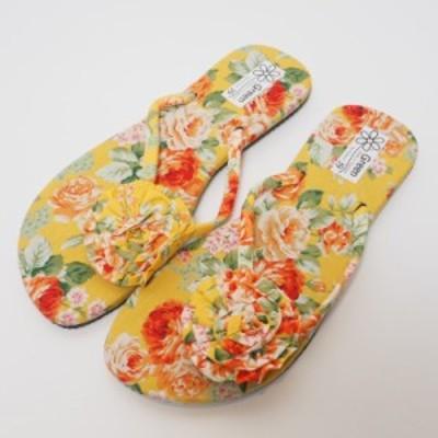 花柄 ビーチサンダル【メール便利用で送料168円】