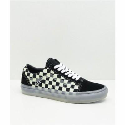 ヴァンズ VANS レディース スケートボード シューズ・靴 Vans Skate Old Skool Glow-In-The-Dark Skate Shoes Black