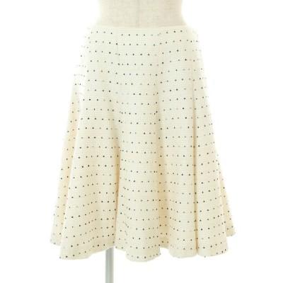 トゥービーシック スカート ツイード フレアー 総柄 42