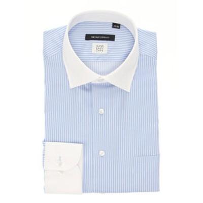 【SUPER EASY CARE・再生繊維】クレリック&ワイドカラードレスシャツ〔EC・BASIC〕
