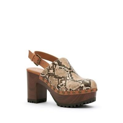 ジェシカシンプソン サンダル シューズ レディース Tiarah Women's Clogs Khaki Snake
